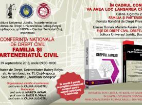 Conferința națională de Drept civil – Familia și parteneriatul civil