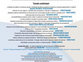 Prezentări din cadrul conferinței - Noile Coduri penale la 5 ani de la intrarea în vigoare - 22 - 23 martie 2019, Cluj-Napoca
