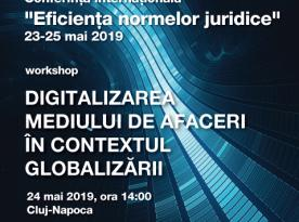 workshop Facultatea de Drept a Universitatii Dimitrie Cantemir 23-25 mai 2019